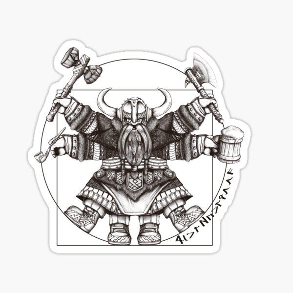 Vitruvian Dwarf Sticker