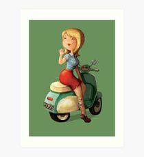 Scooter Girl Art Print