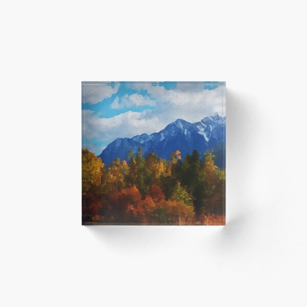 Seasons changing Acrylic Block