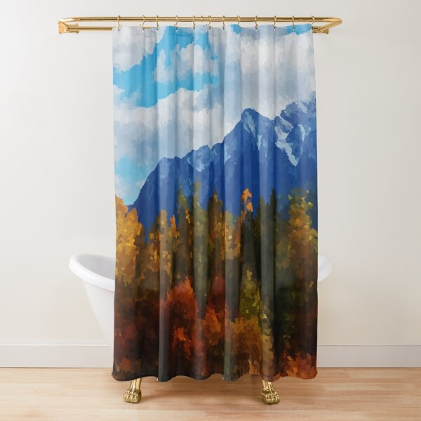 Seasons changing Shower Curtain