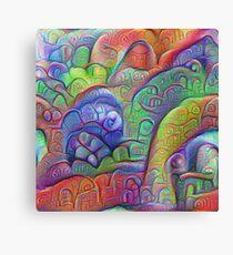 #DeepDream abstraction Canvas Print