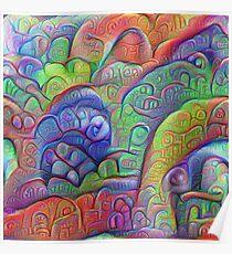 #DeepDream abstraction Poster