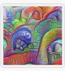 #DeepDream abstraction Transparent Sticker