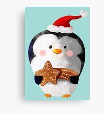 Cute Christmas Penguin Canvas Print
