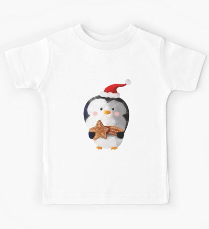 Cute Christmas Penguin Kids Clothes