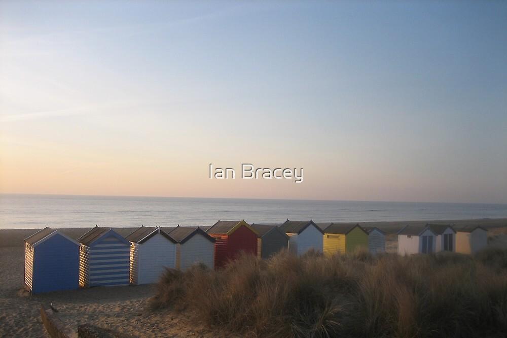 Sunrise Beach Huts, Southwold by Ian Bracey