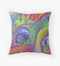 #DeepDream abstraction Throw Pillow
