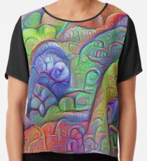 #DeepDream abstraction Chiffon Top