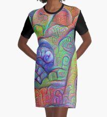 #DeepDream abstraction Graphic T-Shirt Dress
