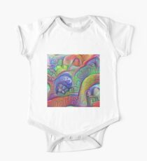 #DeepDream abstraction Short Sleeve Baby One-Piece