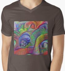 #DeepDream abstraction V-Neck T-Shirt