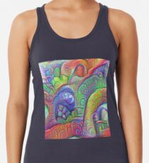 #DeepDream abstraction Racerback Tank Top