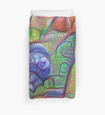 #DeepDream abstraction Duvet Cover