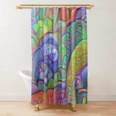 #DeepDream abstraction Shower Curtain