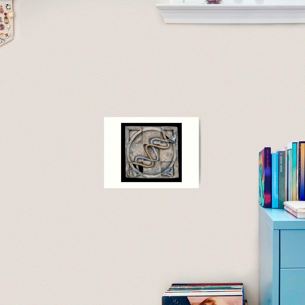 Spiral 2: evolving current Art Print