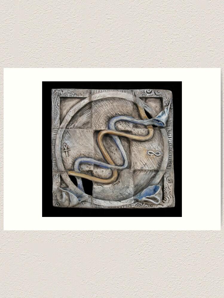 Alternate view of Spiral 2: evolving current Art Print