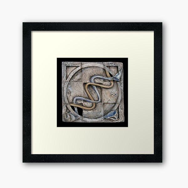 Spiral 2: evolving current Framed Art Print