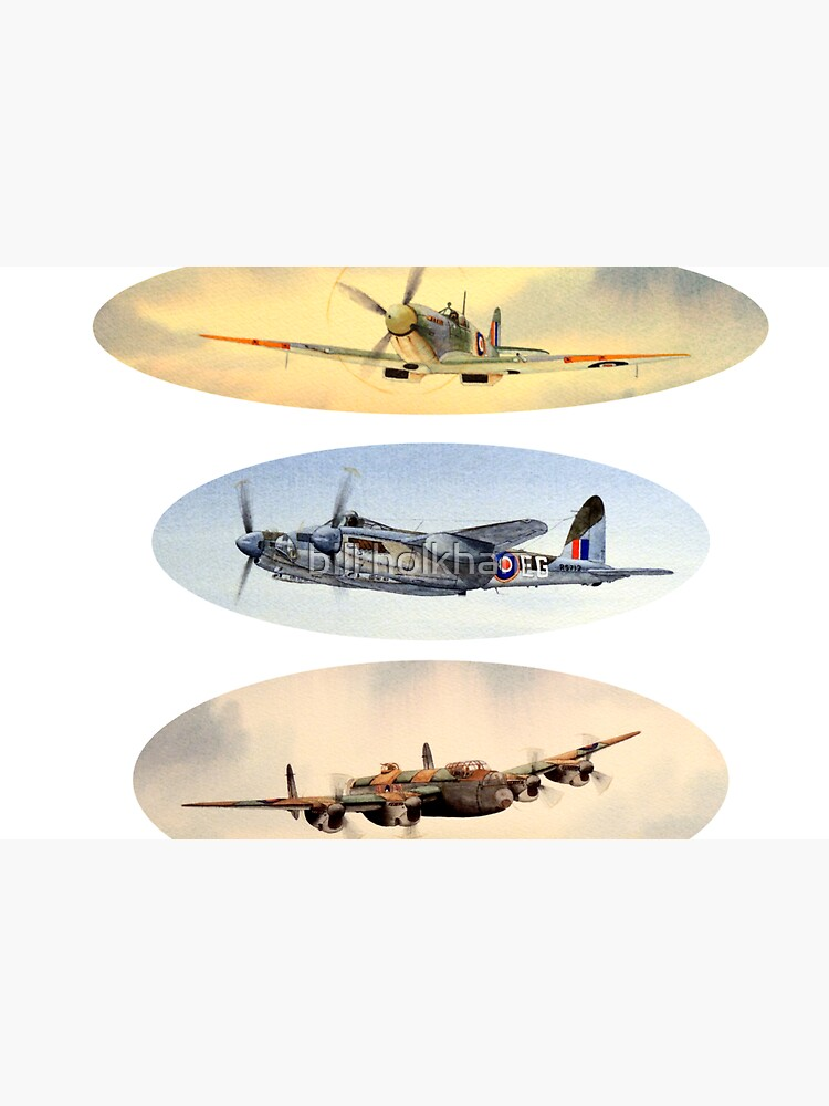 Spitfire Mosquito Lancaster Collage by billholkham