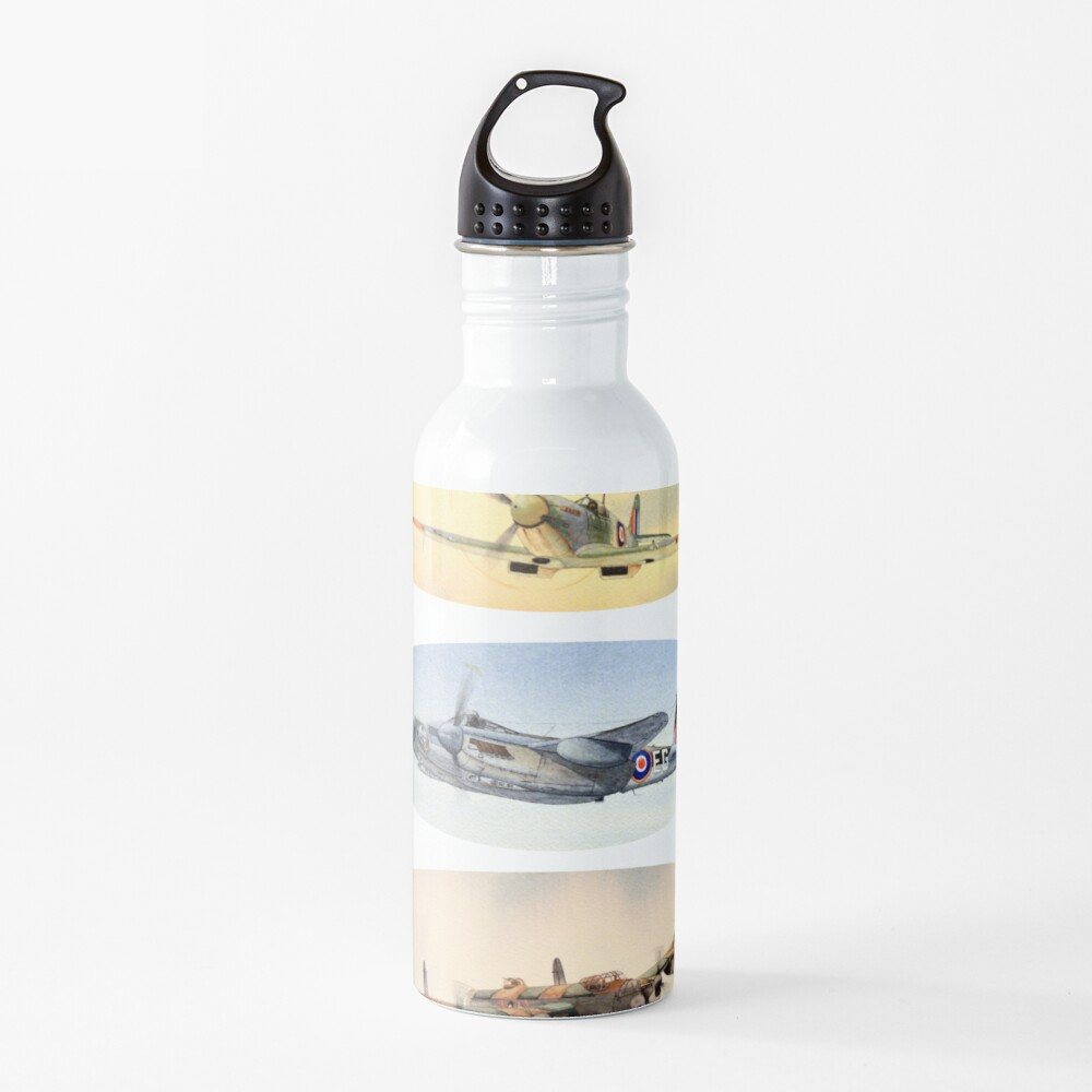 Spitfire Mosquito Lancaster Collage Water Bottle