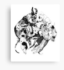 Black dogs Canvas Print