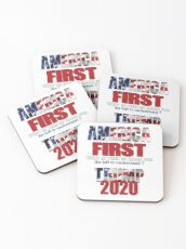 AMERICA FIRST Trump 2020 Coasters