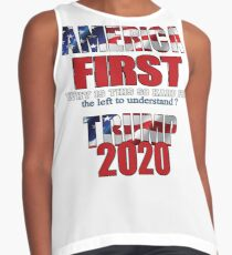 AMERICA FIRST Trump 2020 Sleeveless Top
