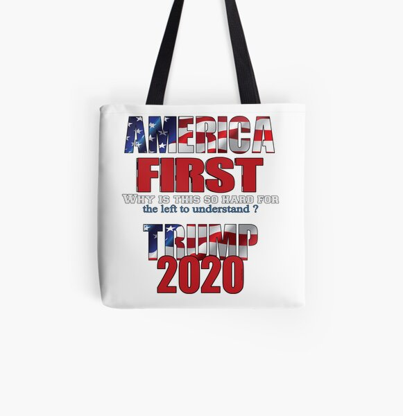AMERICA FIRST Trump 2020 All Over Print Tote Bag