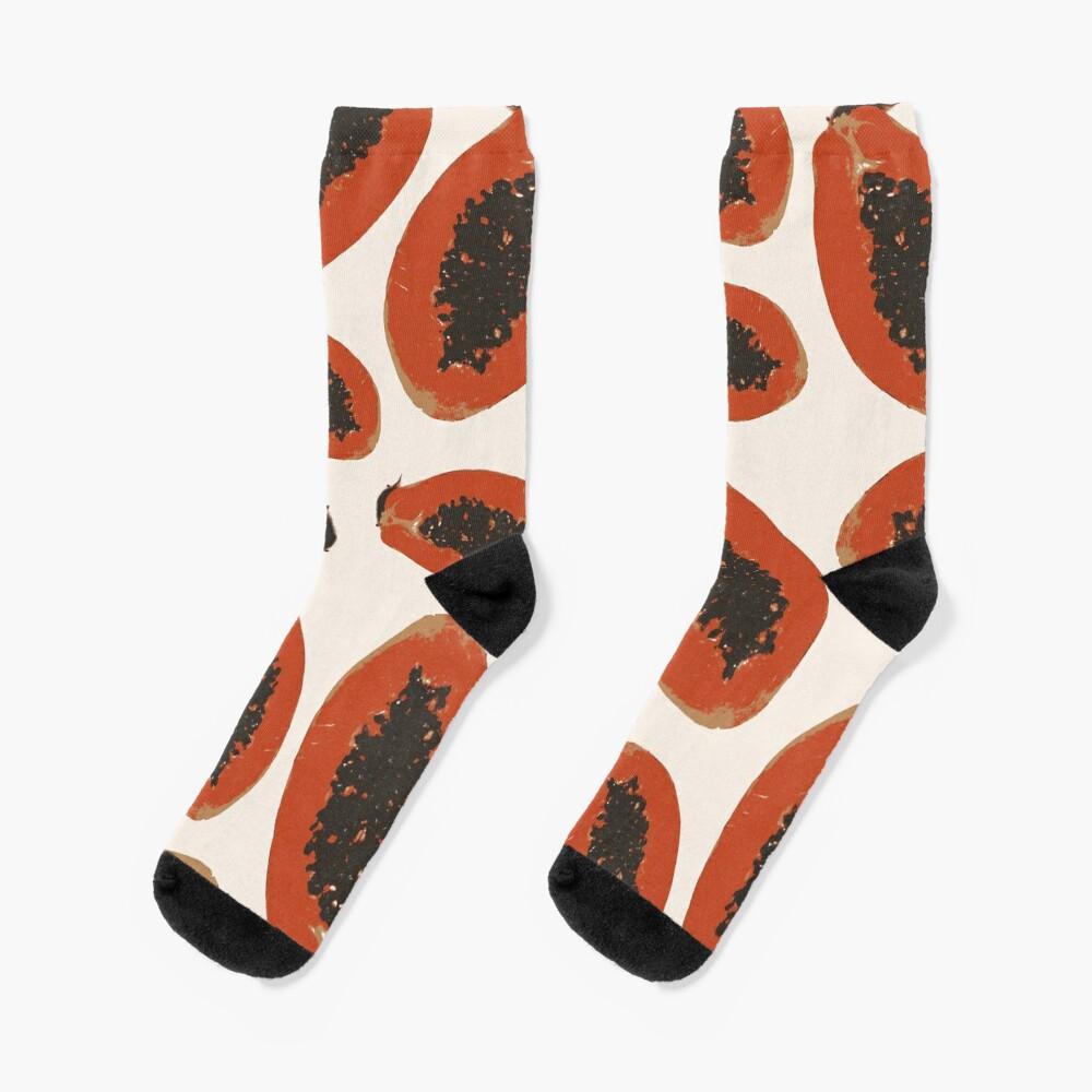 Papaya Frucht Design Pattern Socken