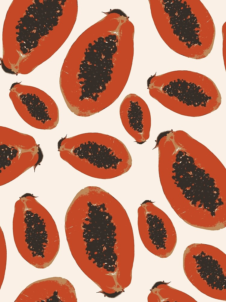 Papaya Frucht Design Pattern von RanitasArt
