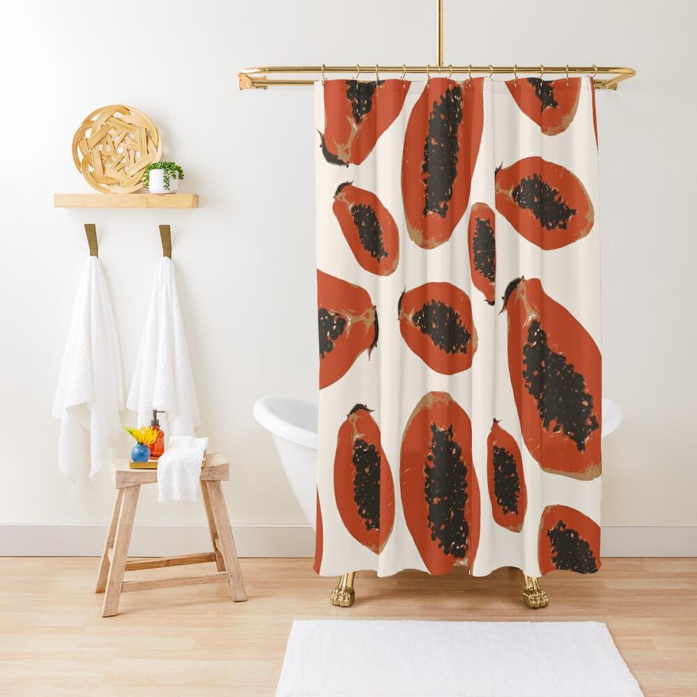 Papaya Frucht Design Pattern Duschvorhang