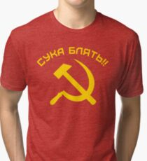 CYKA BLYAT Tri-blend T-Shirt