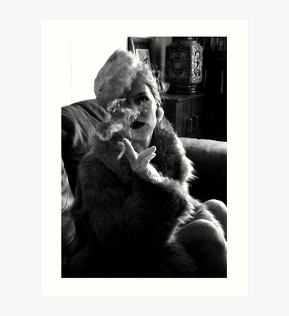 Furs and Cigarettes (ltd ed) Art Print