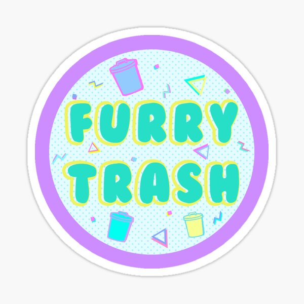 Furry Trash Sticker