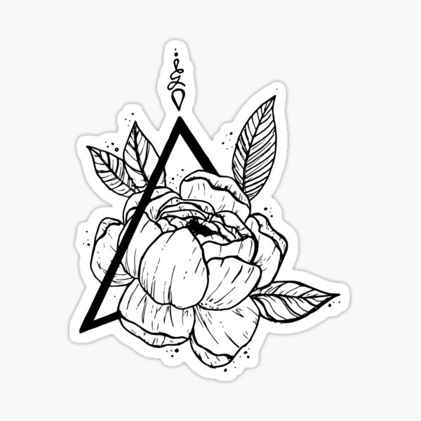 Geometric Floral Sticker