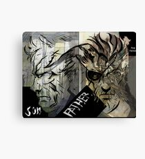 Mag Ama with text (Father And Son) Canvas Print