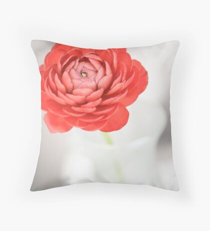 Buttercup in red Throw Pillow
