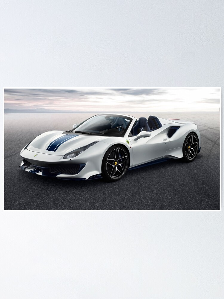 Alternate view of Ferrari 488 Pista Spider Poster