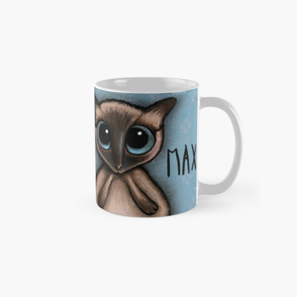 Siamese cat with big blue eyes by Margherita Arrighi Classic Mug