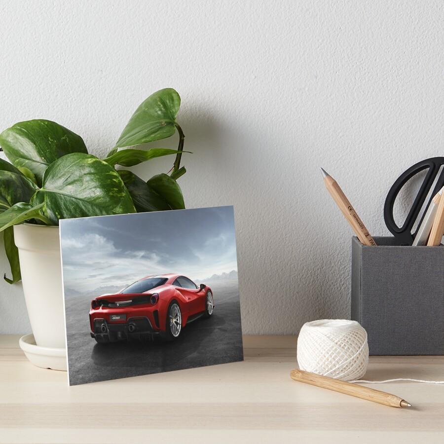 Ferrari 488 pista Art Board Print