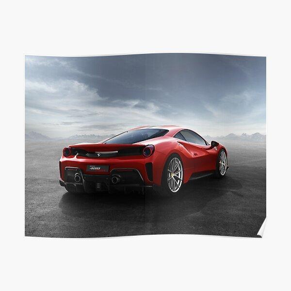 Ferrari 488 pista Poster