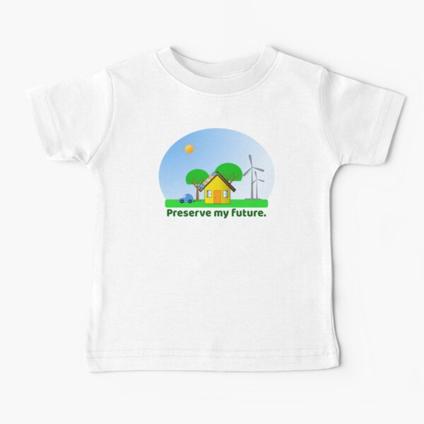 Preserve My Future Clean Energy Snowglobe Baby T-Shirt