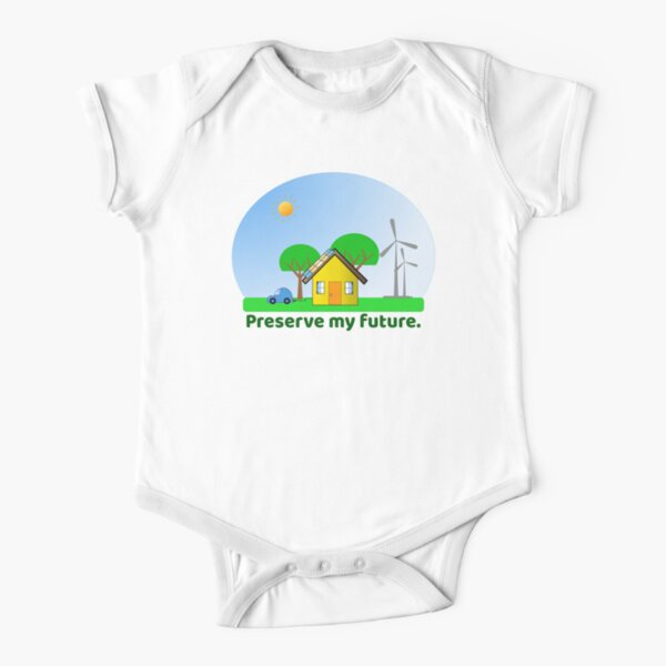 Preserve My Future Clean Energy Snowglobe Short Sleeve Baby One-Piece
