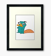 Perry The Platypus Framed Print