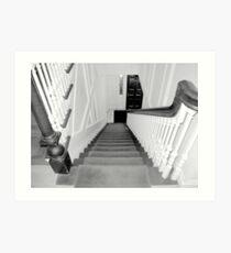 Upstairs-Downstairs Art Print