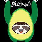 Slothocado Sloth Avocado Lover von mjacobp