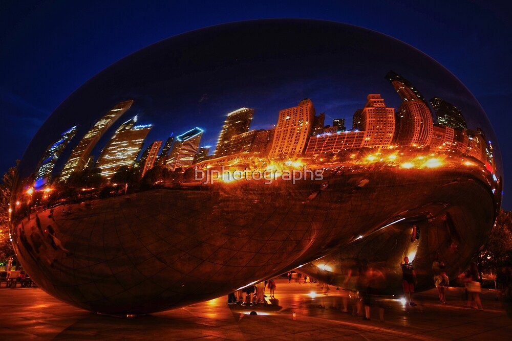 Cloud Gate, bean, Millennium Park, Chicago by bjphotographs