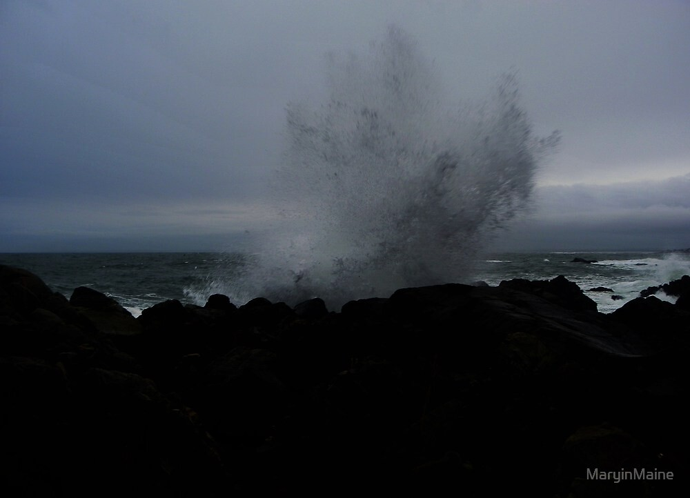 Dark Night - Dark Waves        (View large...please..) by MaryinMaine