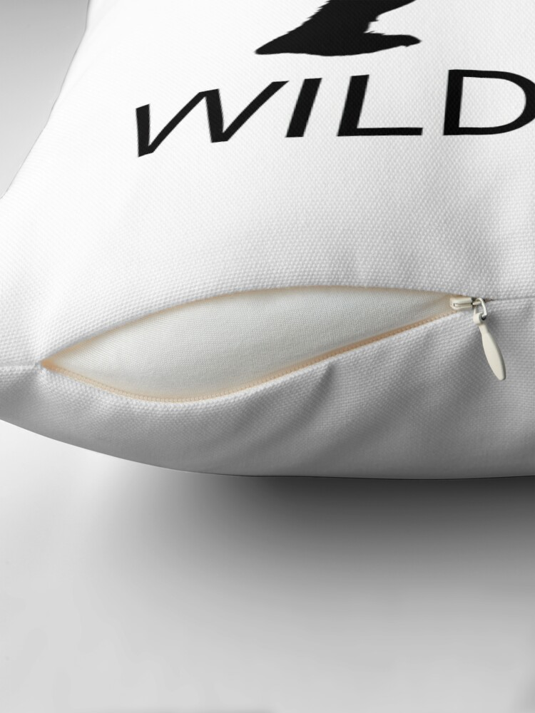Wildman Throw Pillow By The At Symbol Redbubble