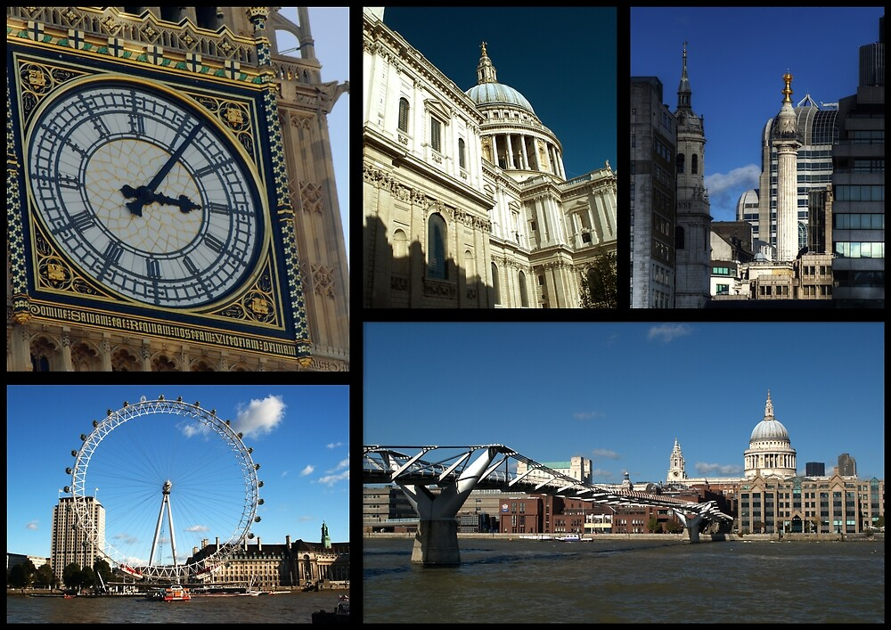 London Scenes Collage by Chris Day