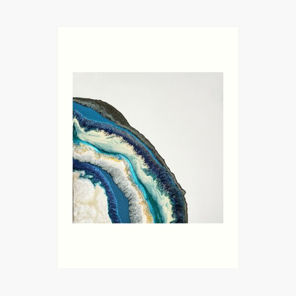 Blue geode Art Print